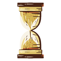 Old hourglass illustration