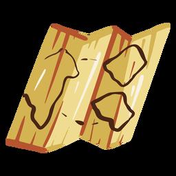 Ilustração do mapa antigo