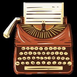 Antigua ilustración de máquina de escribir