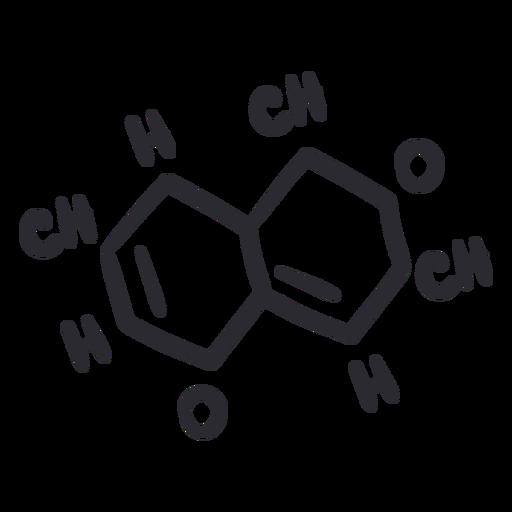Organic molecules stroke