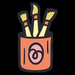 Escovas de pintura cor do traçado