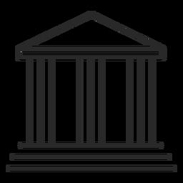 Icono de trazo de panteón