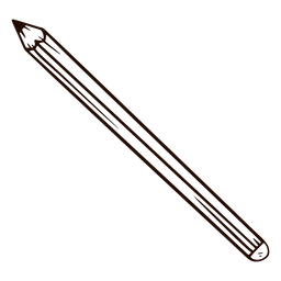 Lápis escolar desenhado à mão