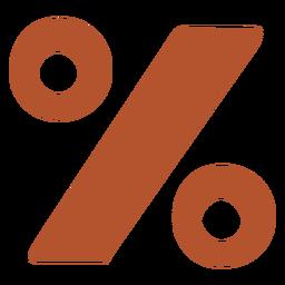 Símbolo de porcentaje plano