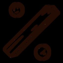 Símbolo de porcentaje dibujado a mano