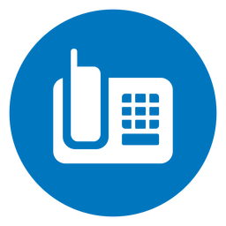 Ícone do telefone azul