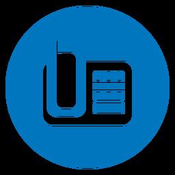 Icono de teléfono azul