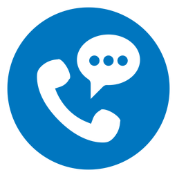 Phone conversation blue icon
