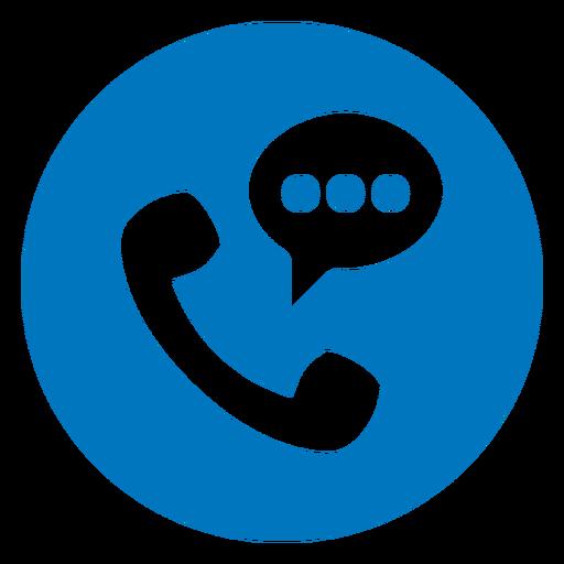 Phone conversation blue icon Transparent PNG