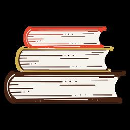 Ilustración de libros escolares de pila