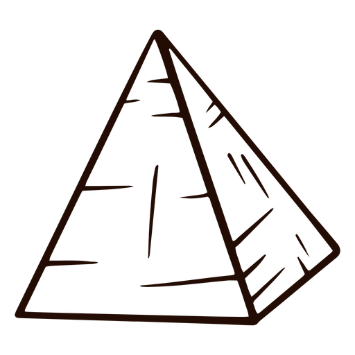 Dibujado a mano forma de pirámide