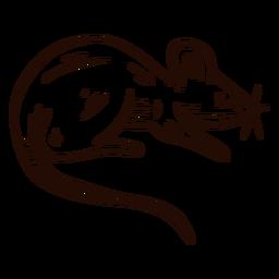 Mão de animal de rato desenhada