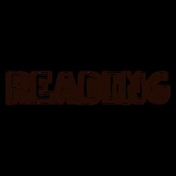 Reading school lettering