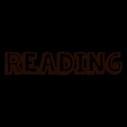 Lectura de letras escolares