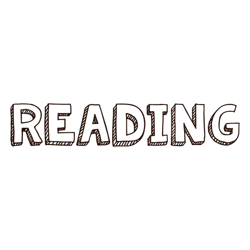 Reading school lettering - Transparent PNG & SVG vector file