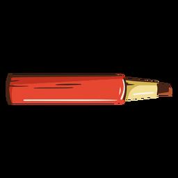 Ilustración de la escuela de marcador rojo