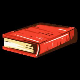 Ilustración de libro escolar rojo