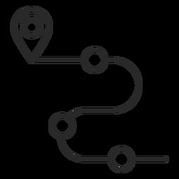 Icono de trazo de carretera