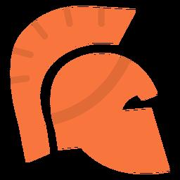 Ícone plana de capacete romano