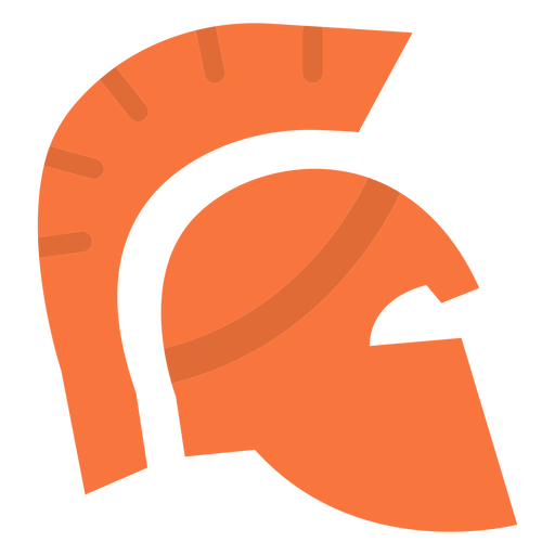 Roman helmet flat icon