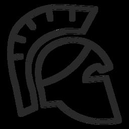 Ícone de traço de capacete romano