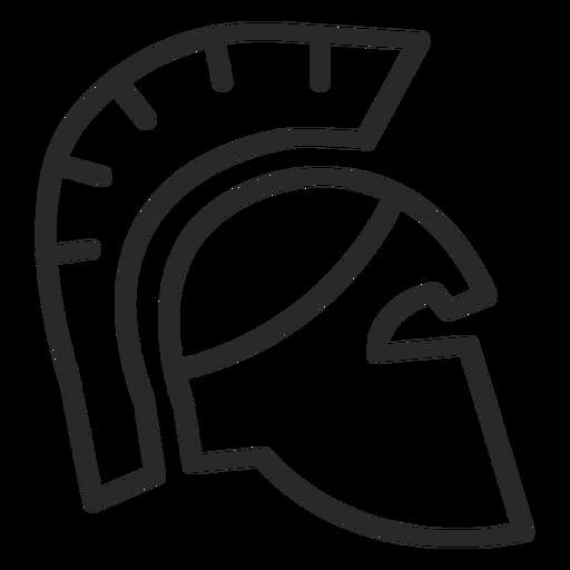 Icono de trazo de casco romano
