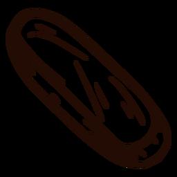 Mão de borracha desenhada