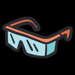 Safety glasses stroke color