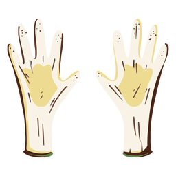 Safety gloves illustration