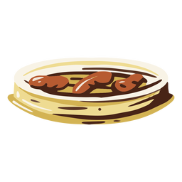 Ilustración de comida de salchichas