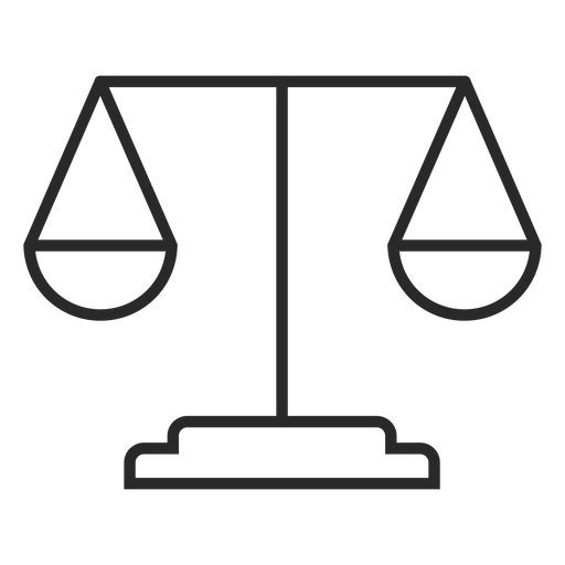 Icono de trazo de escala