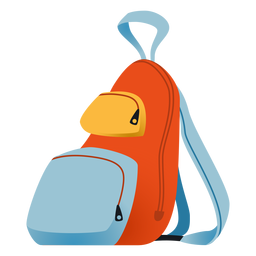 School backpack illustration backpack