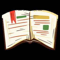 School book open illustration