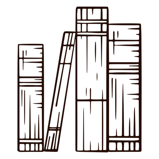 Livros escolares livros desenhados à mão