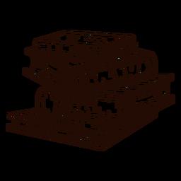 Pila de libros escolares dibujados a mano