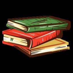 Ilustración de pila de libros escolares