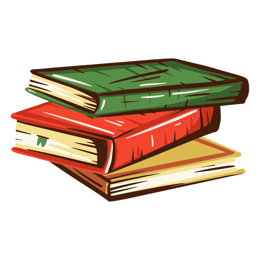 Ilustración de pila de libros escolares Transparent PNG