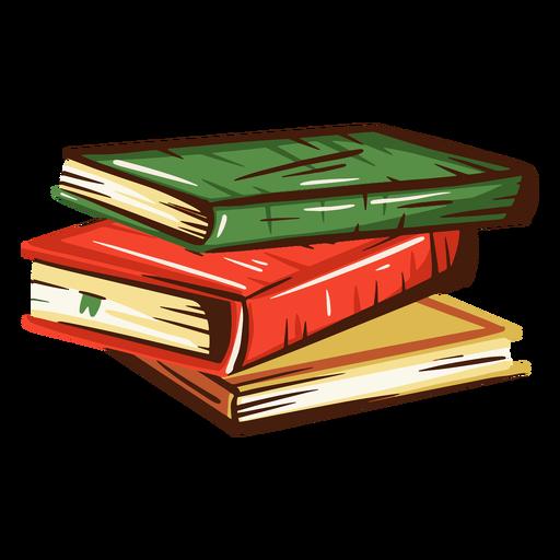 School books pile illustration