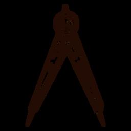 School compass hand drawn