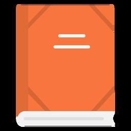 Icono plano cuaderno escolar