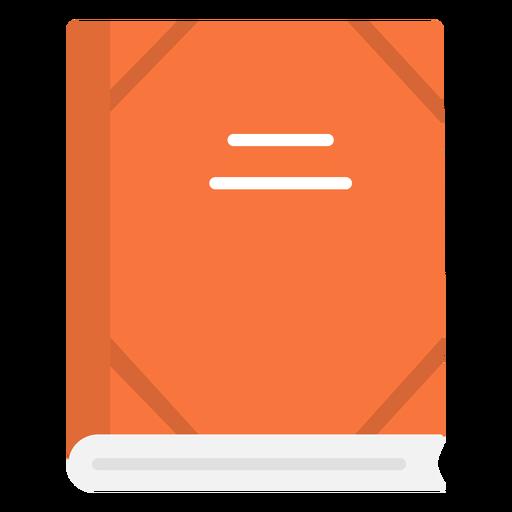 Icono plano de cuaderno escolar Transparent PNG