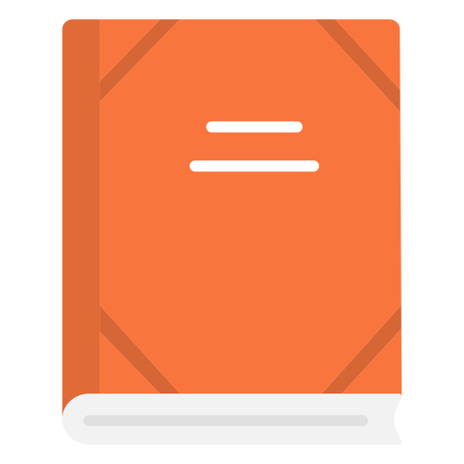 School notebook flat icon Transparent PNG