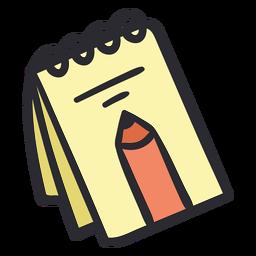 Color de trazo de cuaderno escolar
