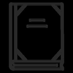 Icono de trazo de cuaderno escolar