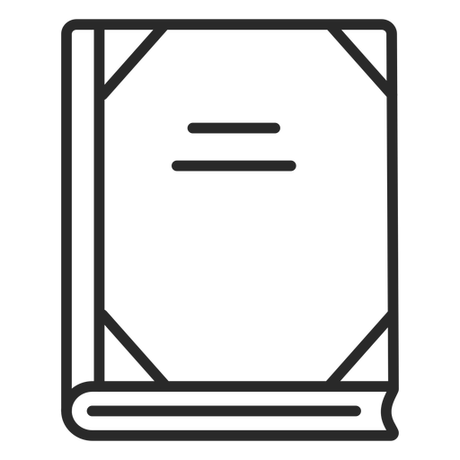 School notebook stroke icon Transparent PNG