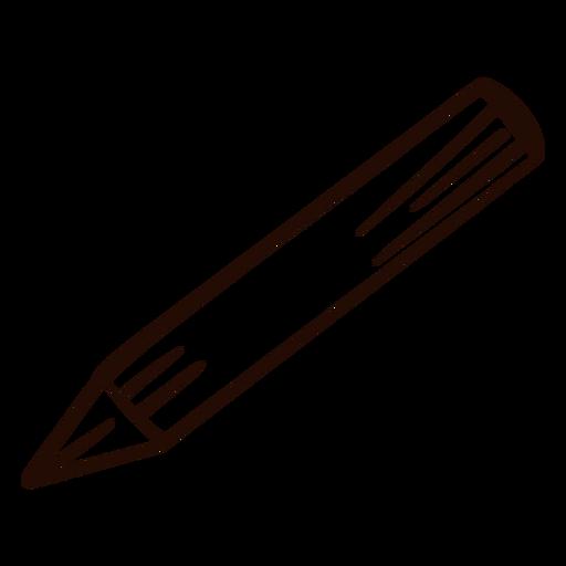 School pencil hand drawn