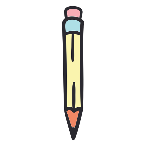 School pencil stroke color Transparent PNG