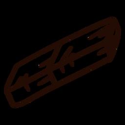 Dibujado a mano de goma de la escuela