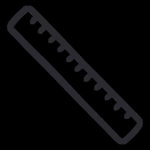School ruler stroke