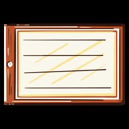 Ilustración de aula de pizarra